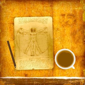 An illustration of Leonardo da Vinci's Vitruvian man. © Banauke / Fotolia.com